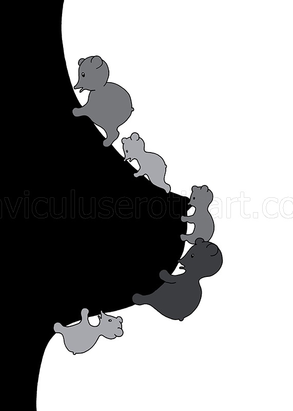 monochrome artwork