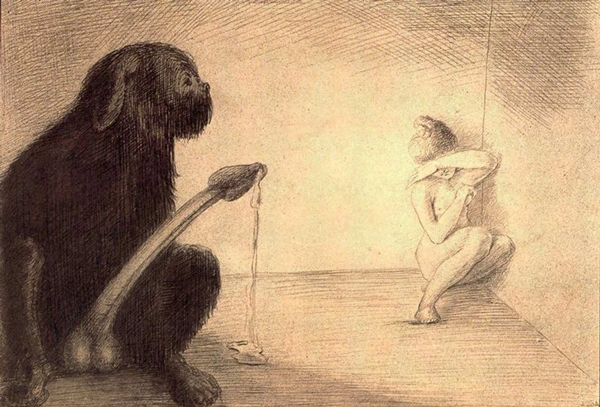 Erotic inspiration on Saturday - Alfred Kubin