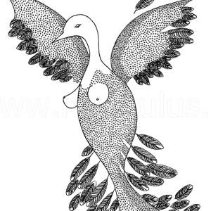 woman bird