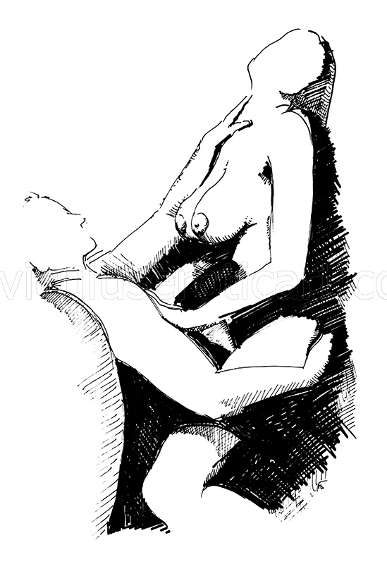 erotic love in illustration
