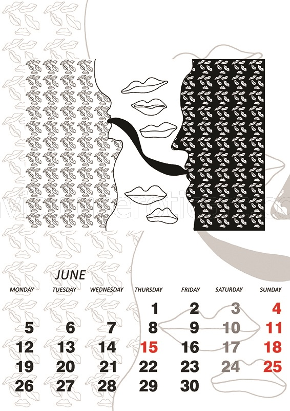 erotic calendar - Agnieszka Niechciał