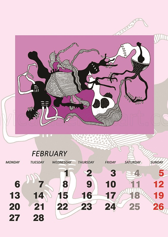 calendar 2017 - erotic graphics