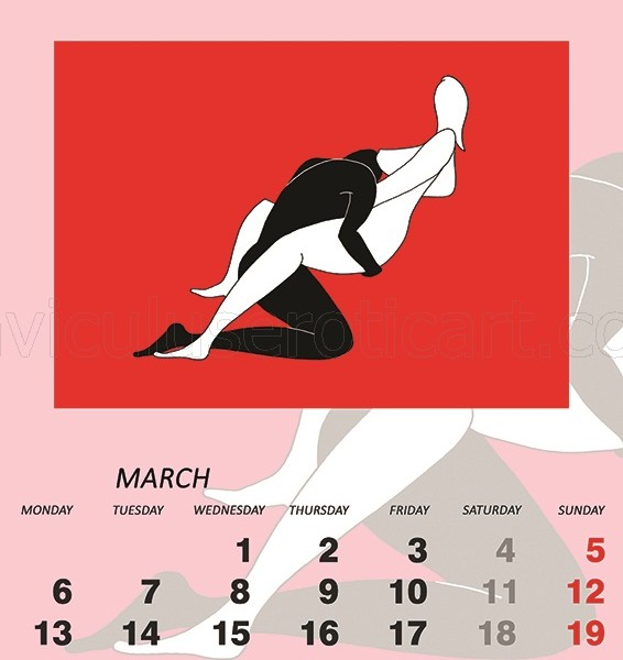 erotic illustrations in calendar