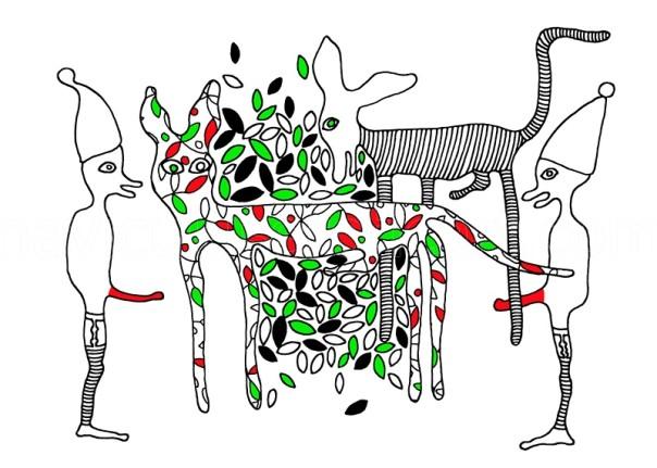 erotic decorative illustration