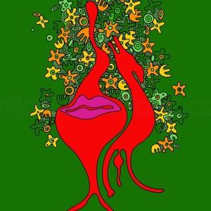 kolorowa abstrakcja erotyczna