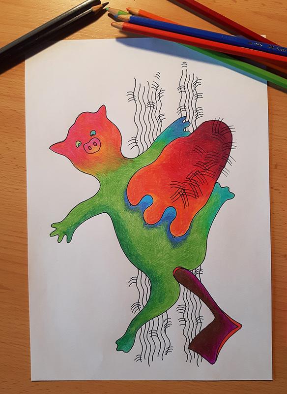 kolorowy rysunek
