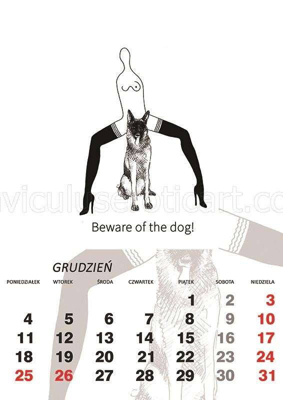 kalendarz erotyczny - Beware of the dog!