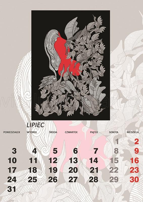 kalendarz erotyczny - Leda