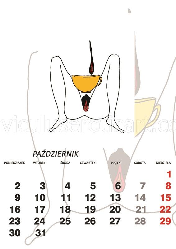 kalendarz erotyczny - Poranna kawa